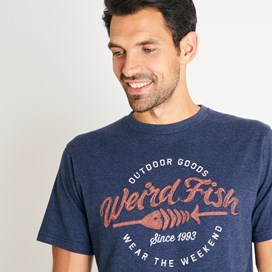 Outdoor Embroidered Branded T-Shirt Navy Marl