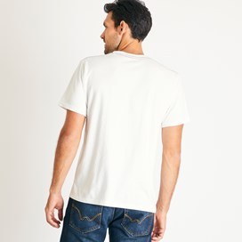 Outdoor Embroidered Branded T-Shirt Dusty White Marl