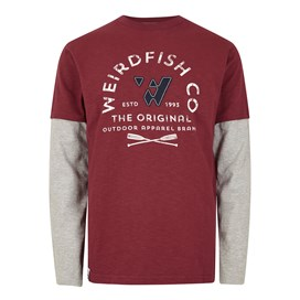 Original 1993 Applique Long Sleeve T-Shirt Pinot Wine