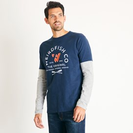 Original 1993 Applique Long Sleeve T-Shirt Navy