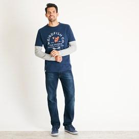 Original 1993 Applique Long Sleeve T-Shirt Navy