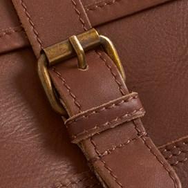 Bole Leather Messenger Bag Dark Tan