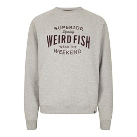 Kane Graphic Print Sweatshirt Grey Marl