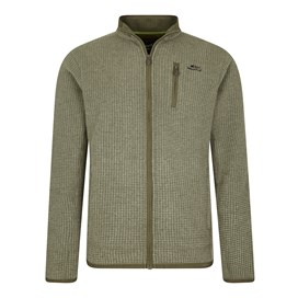 Rossten Full Zip Grid Fleece Jacket Dark Olive