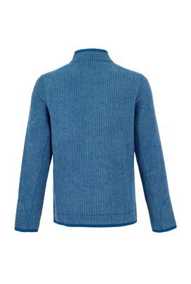 Rossten Full Zip Grid Fleece Jacket Deep Sea Blue