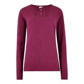 Mae Long Sleeve Cotton T-Shirt Purple Potion