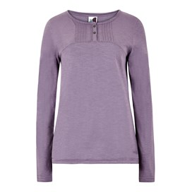 Mae Long Sleeve Cotton T-Shirt Dewberry