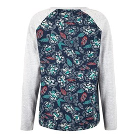 Freya Printed Longer Length T-Shirt Navy Blue