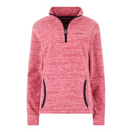 Nancy 1/4 Zip Melange Fleece Sweatshirt Malaga