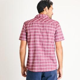 Alli Checked Short Sleeve Shirt Pinot Wine