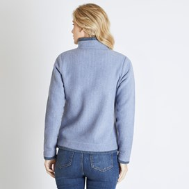 Beyonce 1/4 Zip Grid Fleece Sweatshirt Light Blue