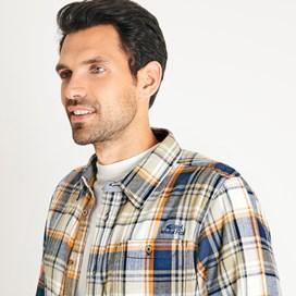 Sedona Herringbone Check Shirt Saffron