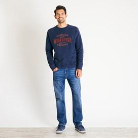 Kane Graphic Print Sweatshirt Navy