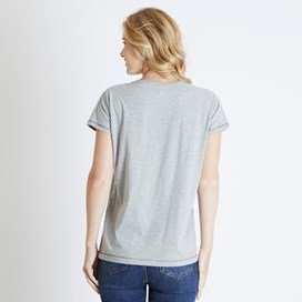 Shreya Graphic T-Shirt Grey Marl