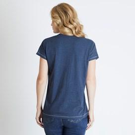 Shreya Graphic T-Shirt Dark Navy Marl