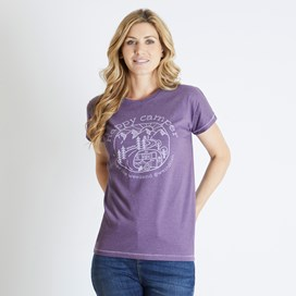 Shreya Graphic T-Shirt Dewberry Marl