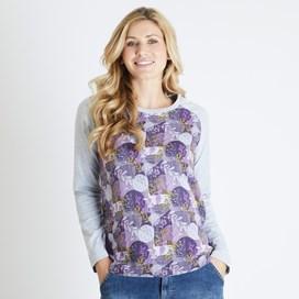 Freya Printed Longer Length T-Shirt Nightshade