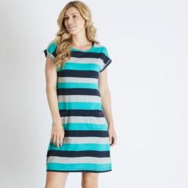 Tallahassee  Printed Jersey Dress Navy