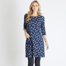 Starshine Printed Jersey Dress Dark Navy