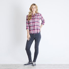 Martha Brushed Check Twill Shirt Malaga