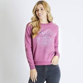 Glaze Graphic Print Crew Neck Sweatshirt Malaga