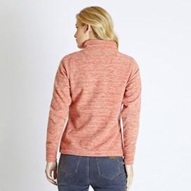 Nancy 1/4 Zip Melange Fleece Sweatshirt Mango