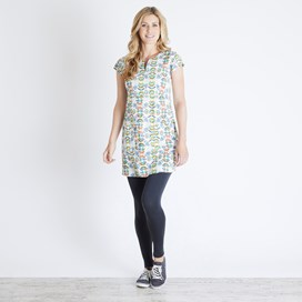 Reve Printed Stretch Tunic Light Cream