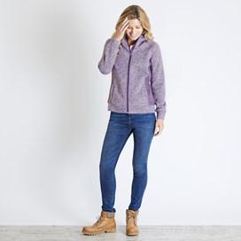 Dania Soft Knit Hooded Jacket Purple Magic