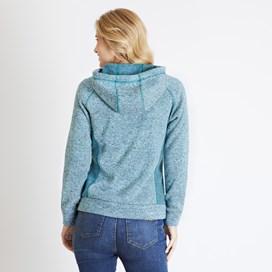Dania Soft Knit Hooded Jacket Teal Blue