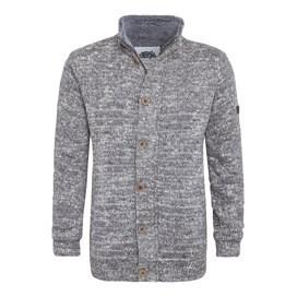 Jones Fur Lined Chunky Knit Jacket Dark Grey