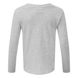 Bugsy Long Sleeved Graphic T-Shirt Grey Marl