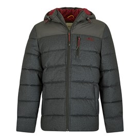 Laurent 2-Tone Puffa Jacket Charcoal