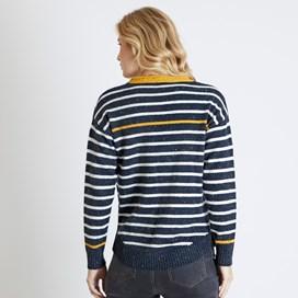 Alexa Striped Jumper Dark Navy
