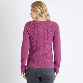 Brielle Plain Cable Knit Cardigan Malaga