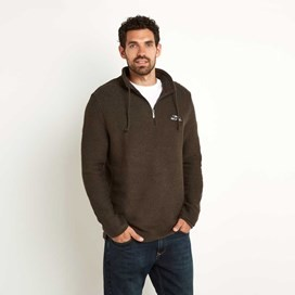 Cruiser 1/4 Zip Classic Macaroni Sweatshirt Licorice