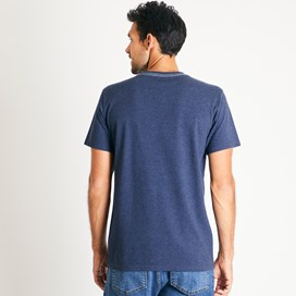 Taped Branded T-Shirt Navy Marl