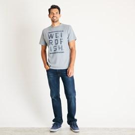 Taped Branded T-Shirt Gunmetal Marl