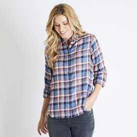 Martha Brushed Check Shirt Light Blue
