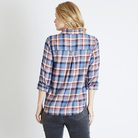Martha Brushed Check Shirt Light Blue