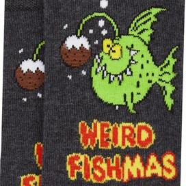 Weird Fishmas Artist Sock Single Pack Washed Black Marl