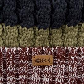 Gomez Striped Twisted Yarn Hat Pinot Wine