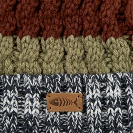 Gomez Striped Twisted Yarn Hat Navy