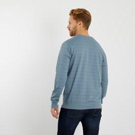 Filipe Striped Crew Neck Sweatshirt Blue Indigo Marl