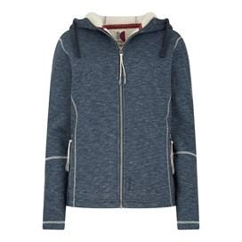 Jasmine Fur Knit Fleece Hooded Jacket Dark Navy