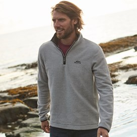 Errill 1/4 Zip Textured Fleece Sweatshirt Ecru