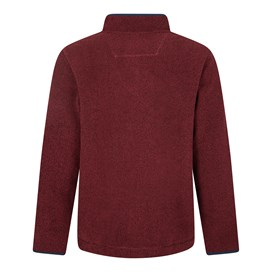 Errill 1/4 Zip Textured Fleece Sweatshirt Oxblood