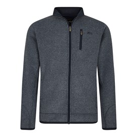 Rossten Full Zip Grid Fleece Jacket Navy