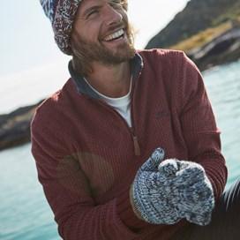 Camilo Twisted Yarn Glove Navy