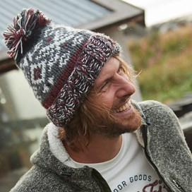 Paulo Fair Isle Patterned Hat Cement