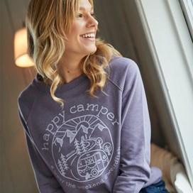 Glaze Graphic Print Crew Neck Sweatshirt Dewberry